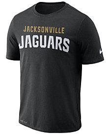 Nike Men's Jacksonville Jaguars Dri-FIT Cotton Essential Wordmark T-Shirt