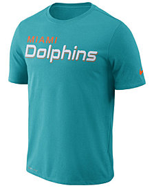 Nike Men's Miami Dolphins Dri-FIT Cotton Essential Wordmark T-Shirt