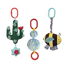 Manhattan Toy Cactus Garden Rattle, Teether And Jiggle Pull Baby Travel Toy Set