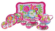 Garden Party Tin Tea Set