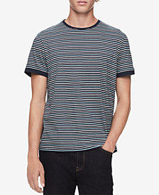 Calvin Klein Men's Striped Collegiate T-Shirt