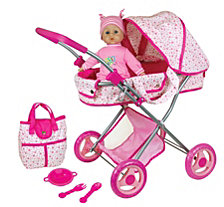 Lissi Doll Pram With 13 Inch Baby Doll And Accessories