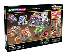 Laser Pegs Monster Rally Fire'S Fury Offroad Truck 350 Piece Construction Block Set
