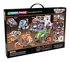Laser Pegs Monster Rally Offroad Truck Garage 600 Piece Construction Block Set