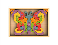 Begin Again Toys Butterfly A-Z Wooden Puzzle