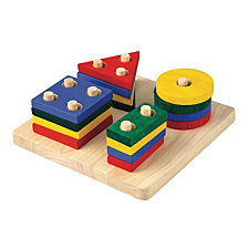 Plantoys Geometric Sorting Board Learning Toy