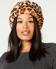 Nine West Faux-Fur Cuff Cloche