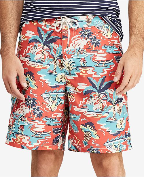4e1e2c198 ... Polo Ralph Lauren Men s Big   Tall Kailua Tropical Swim Trunks ...