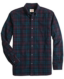 Brooks Brothers Men's Red Fleece Indigo Tartan Corduroy Shirt