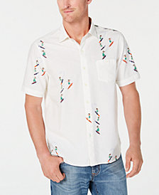Tommy Bahama Men's Hula Gals Surfing Print Shirt