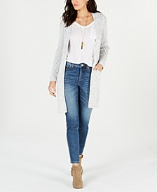 Petite Chenille-Knit Open-Front Cardigan, Created for Macy's
