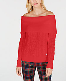 Tommy Hilfiger Off-The-Shoulder Sweater, Created for Macy's