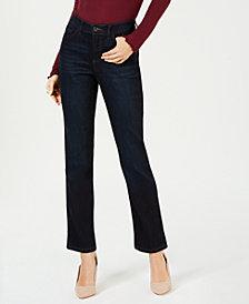 Lee Platinum Juniors' Petite Straight-Leg Jeans