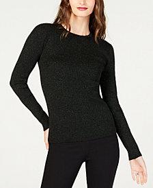 MICHAEL Michael Kors Petite Metallic Ribbed Sweater