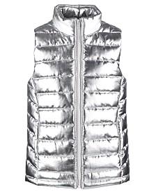 Ideology Little Girls Metallic Puffer Vest, Created for Macy's