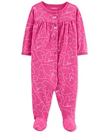 Carter's Baby Girls Heart-Print Cotton Coverall