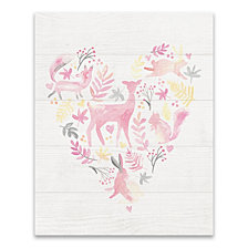 Woodland Heart Printed Canvas
