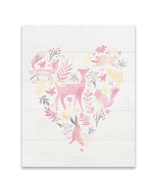 Artissimo Designs Woodland Heart Printed Canvas