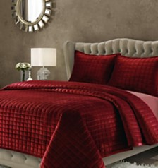 Florence Velvet Solid Oversized Quilt Set Collection