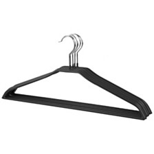 Home Basic Non-Slip and Snag-Free Suit Vinyl Coated Steel Wire Hanger, Pack of 5