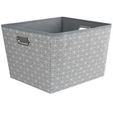 Home Basics Diamond Collection Large Storage Bin