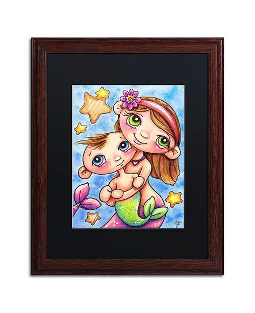 "Trademark Global Jennifer Nilsson My Sister & Me Matted Framed Art - 14"" x 19"" x 2"""