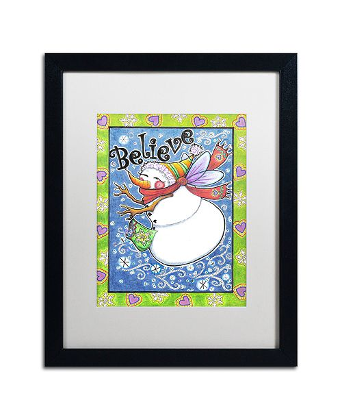 "Trademark Global Jennifer Nilsson Believe Matted Framed Art - 16"" x 20"" x 0.5"""