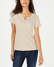 Short Sleeve Henley Top, Created for Macy's