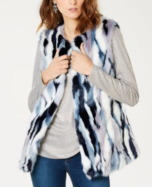 I.n.c. Patchwork Faux-Fur Vest, Created for Macy's - Patchwork