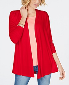 Draped Open-Front Cardigan, Created for Macy's