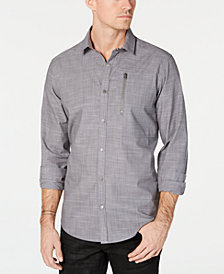 I.N.C. Men's Murdock Cross Hatch Shirt, Created for Macy's