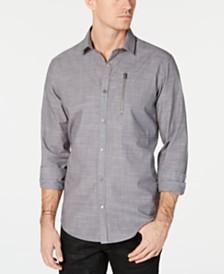 I.N.C. Men's Murdock Cross Hatch Shirt, Created for Macy's