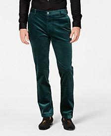 I.N.C. Mens Velvet Slim-Fit Pants, Created for Macy's