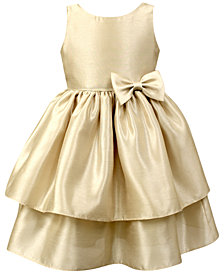 Jayne Copeland Toddler Girls Tiered Shantung Dress