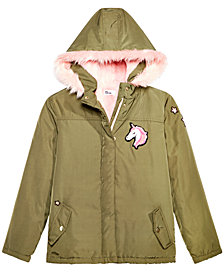 Epic Threads Big Girls Fur-Lined Unicorn Jacket, Created for Macy's