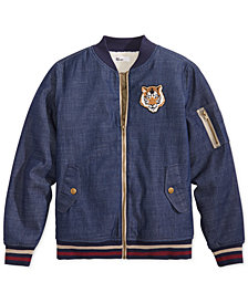 Epic Threads Big Boys Denim Bomber Jacket, Created for Macy's