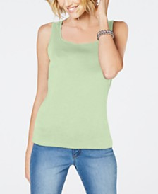 Karen Scott Square-Neck Tank Top, Created for Macy's
