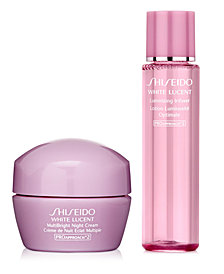 Receive a Free 2 pc White Lucent gift with $125 Shiseido purchase!