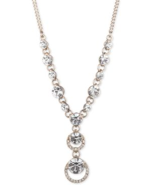 """Pave Lariat Necklace, 16"""" + 3"""" Extender in Gold"""