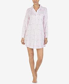 Lauren Ralph Lauren Printed Collared Sleepshirt