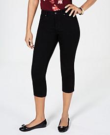 Petite Tummy-Control Bristol Capri Jeans, Created for Macy's