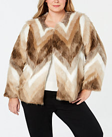 Alfani Plus Size Faux-Fur Coat, Created for Macy's