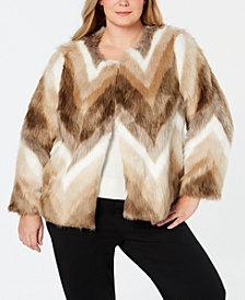 Alfani Plus Size Faux-Fur Coat, Created for Macy's