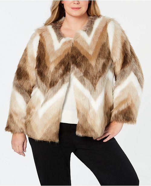 de78e26b56 ... Alfani Plus Size Faux-Fur Coat