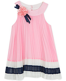 Rare Editions Baby Girls Pleated Dress