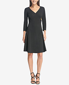 DKNY Zip-Detail Fit & Flare Dress, Created for Macy's