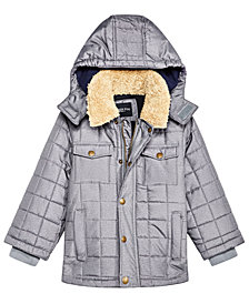 London Fog Toddler Boys Puffer Jacket With Removable Hood