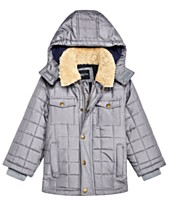 8255e50de7ce London Fog Toddler Boys Puffer Jacket With Removable Hood