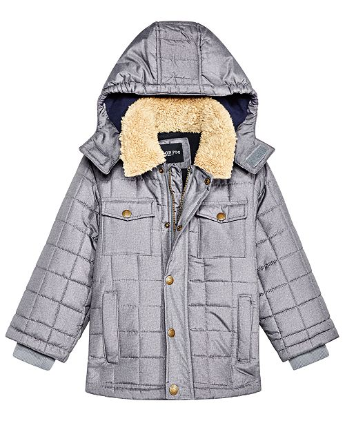 b4db125e8 London Fog Toddler Boys Puffer Jacket With Removable Hood ...