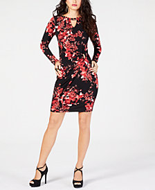 Thalia Sodi Chain-Link Printed Dress, Created for Macy's